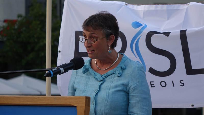 La conseillère d'Etat fribourgeoise  Marie Garnier (photo Maurice Page)