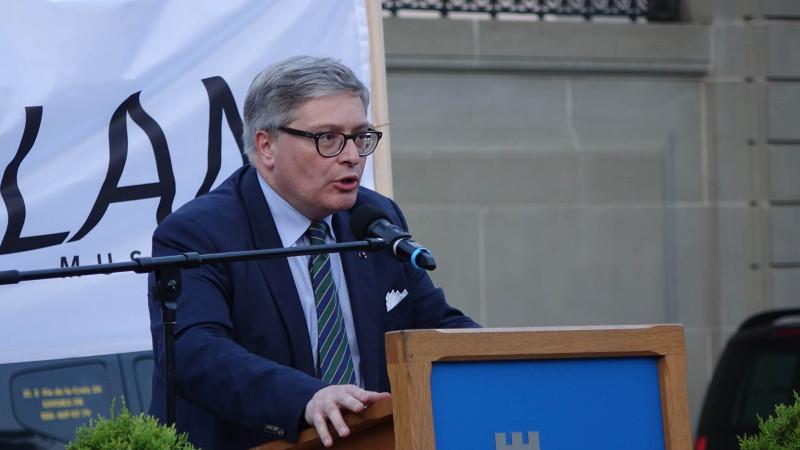 Laurent Passer, président démissionnaire de l'assemblée de la Corporation ecclésiastique catholique du canton de Fribourg  (CEC) (photo Maurice Page)