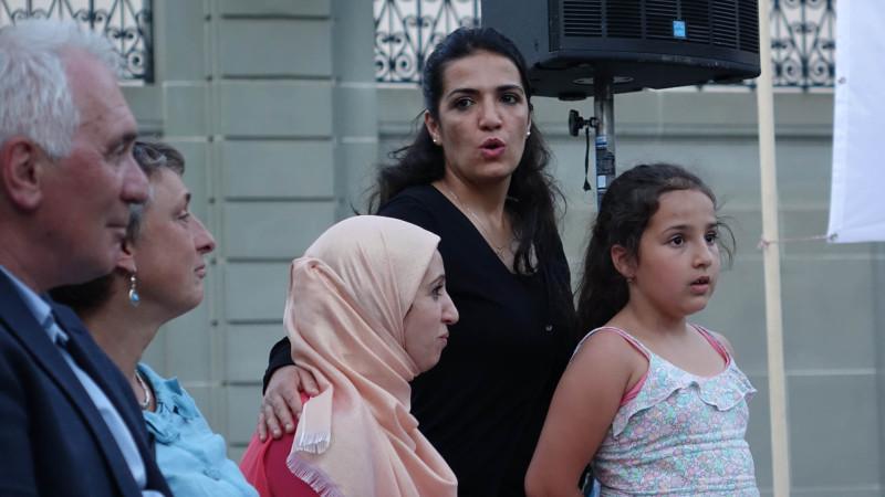 Rupture du jeune du ramadan  à Fribourg, le 2 juillet 2015 (photo Maurice Page)