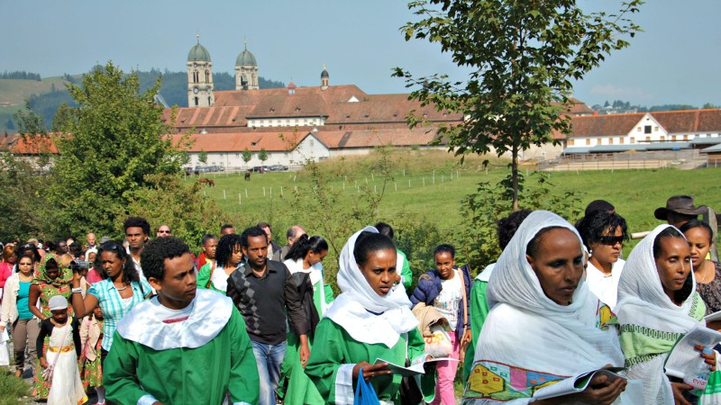Les Africains de Suisse en pèlerinage à  Einsiedeln  (Photo: Jacques Berset)