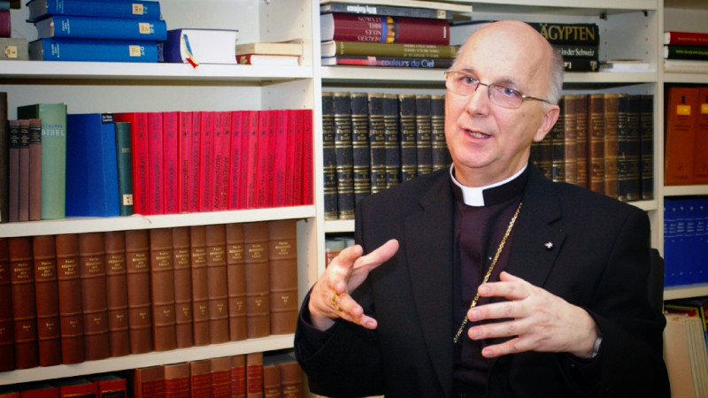 Mgr Marian Eleganti, évêque auxiliaire de Coire (Photo:Georges Scherrer)