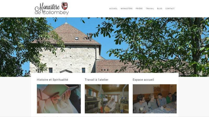 La page d'accueil du site internet du monastère des Bernardines. (Photo: capture écran)