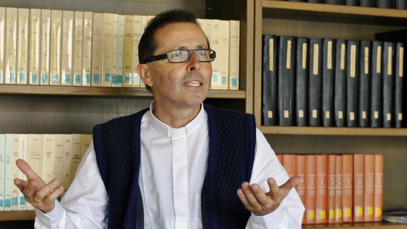 L'abbé Joël Pralong, directeur du Séminaire de Sion (Photo: Pierre Pistoletti)