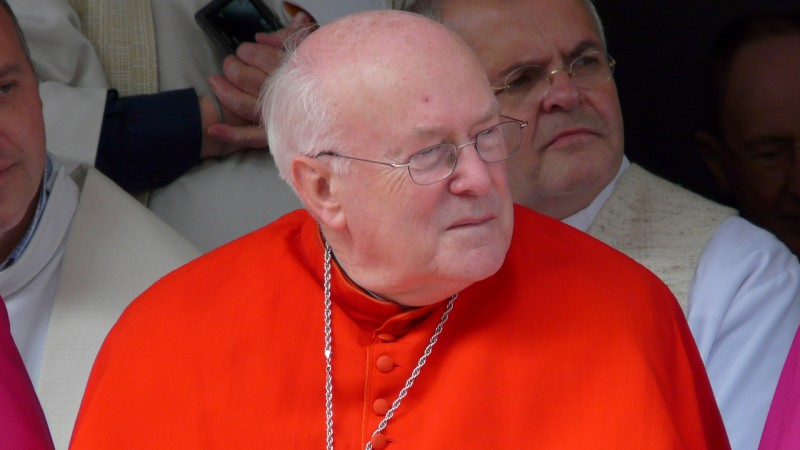 """Le cardinal Godfried Danneels fut primat de Belgique durant une trentaine d'années (photo Wikimedia commons Eddy Van 300 <a href=""""https://creativecommons.org/licenses/by-sa/2.0/legalcode"""" target=""""_blank"""">CC BY-SA 2.0</a>)"""