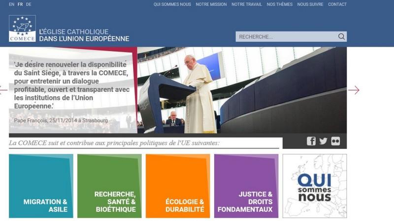 Le site web de la Commission des Episcopats de l'Union européenne (COMECE) fait peau neuve