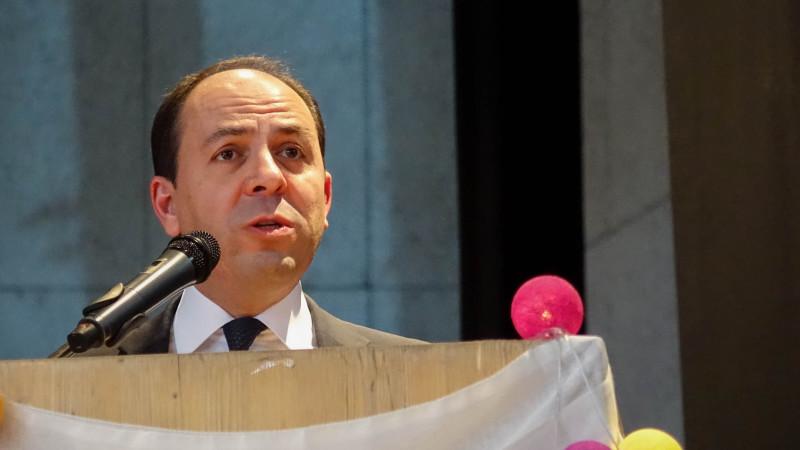 Le président de la Fédération des organisations islamiques de Suisse (FOIS) Montassar BenMrad (photo Maurice Page)