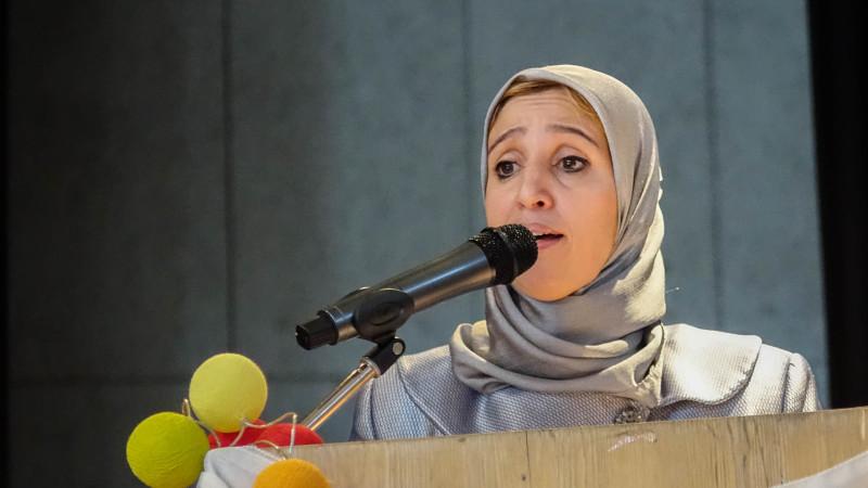 Leila Batbout, secrétaire de l'Union des associations musulmanes de Fribourg  (UAMF) (photo Maurice Page)