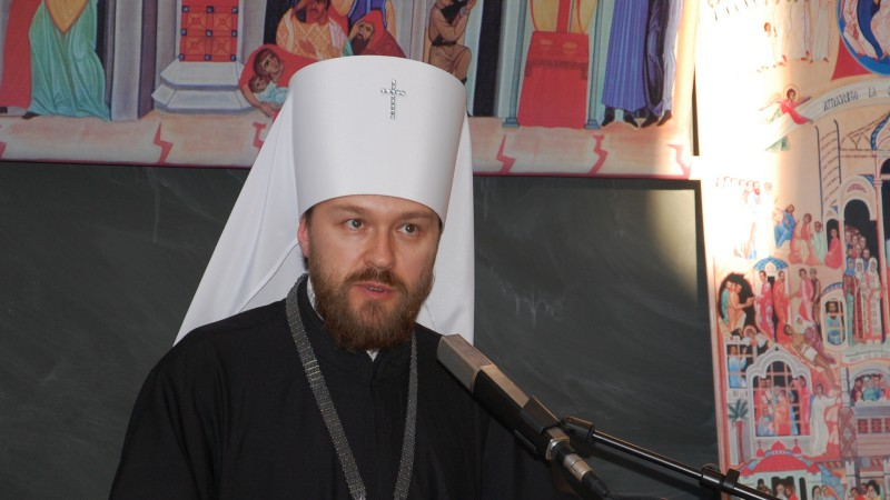 Le métropolite Hilarion de Volokolamsk, président du Département des relations ecclésiastiques extérieures (DREE) du Patriarcat de Moscou (Photo: Jacques Berset)