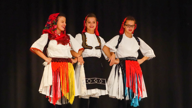 """L'école albanaise de danse """"Shota"""" (photo Maurice Page)"""