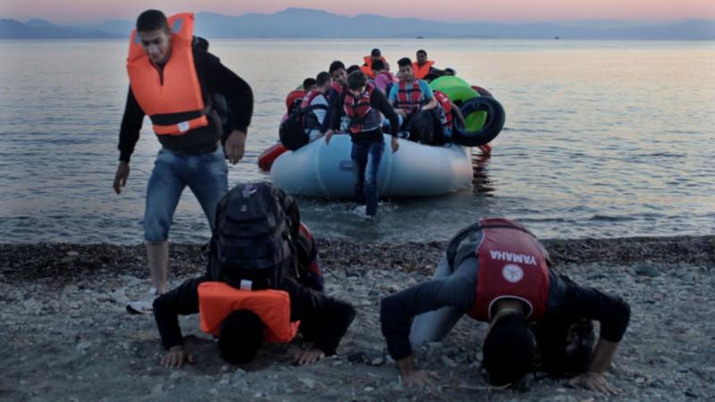 Réfugiés arrivés en Grèce (Photo:  Jesuit Refugee Service Sergi Camara)