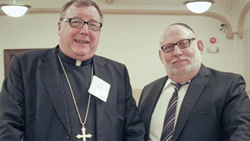 Canada Dialogue Juifs-Catholiques Mgr John A. Boissonneau et le rabbin Baruch Frydman-Kohl (Photo:   www.cccb.ca)