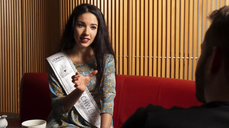 La réflexion de la nouvelle Miss Suisse sur des questions théologiques est cohérente (Photo: Bernard Hallet)