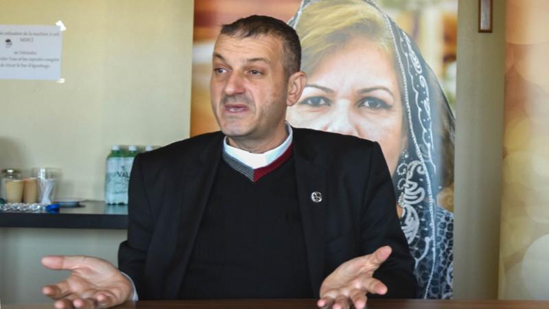 Le Père Jacques Mourad témoigne du calvaire du peuple syrien (Photo:  Jacques Berset)