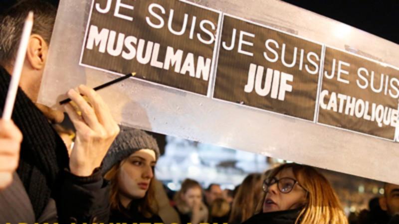 Manifestation de solidarité de toutes les communautés après les attentats de Paris (Photo: American Jewish Committee)