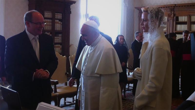 Le pape François a reçu le prince Albert II et son épouse Charlène, souverains de Monaco (Photo: I.MEDIA)