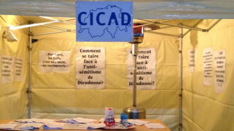 CICAD Manifestation le 14 janvier 2016  contre la venue de Dieudonné à Nyon (Photo:  CICAD)