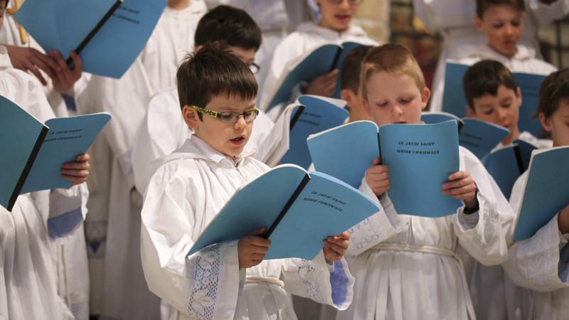 La cathédrale de Sion offre de nombreuses possibilités musicales pour les enfants, comme la Schola des petits chanteurs. (Photo: Bernard Hallet)