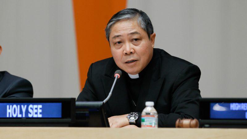 Mgr Bernardito Auza, observateur permanent du Saint-Siège à l'ONU à New York (Photo: ONU/Devra Berkowitz)