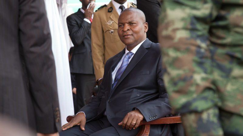 Faustin-Archange Touadéra, président de la République de Centrafrique,  a été reçu par le pape Frnçois. (Photo: UN  Nektarios Markogiannis)