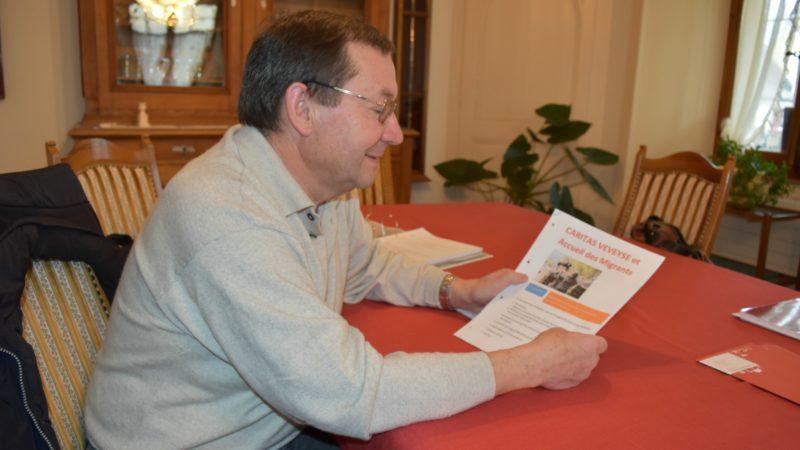 Jean-Pierre Sonney, président de Caritas Veveyse  (Photo: Jacques Berset)