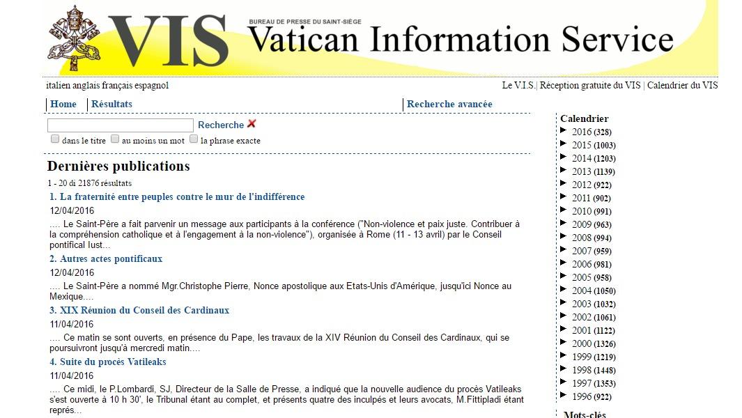 le bulletin quotidien du vatican information service en. Black Bedroom Furniture Sets. Home Design Ideas