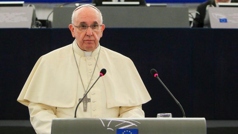 Le pape François au parlement européen en novembre 2014. (Photo: Flickr/Martin Schulz/CC BY-NC-ND 2.0)