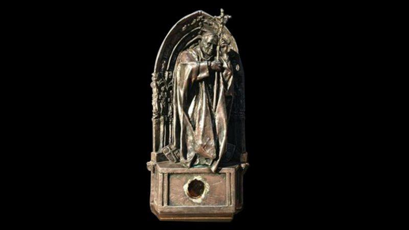 Cathédrale de Cologne Reliquaire contenant une goutte de sang du pape Jean Paul II (Photo: www.koelner-dom.de)