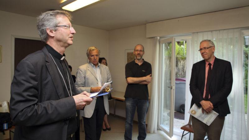 Lausanne le 22 juin 2016. Remise du prix Good News 2016. Discours de Mgr Alain de Raemy, évêque auxiliaire du diocèse LGF. (Photo: B. Hallet)