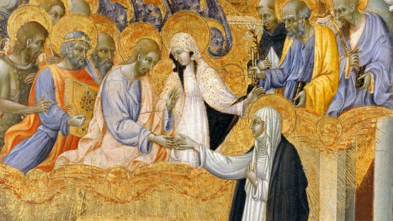 Le mariage mystique de Catherine de Sienne par Giovanni di Paolo, en 1460