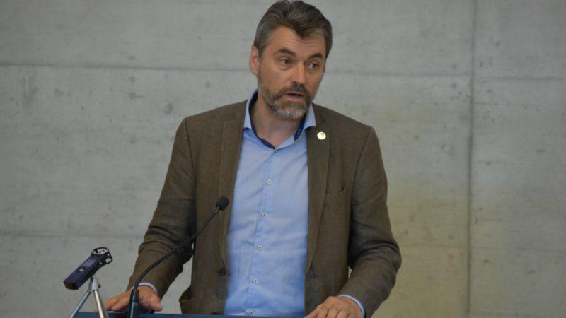 Fasting Days 2016  Le conseiller communal de la Ville de Fribourg Pierre-Olivier Nobs, du parti chrétien-social (Photo:  Jacques Berset)