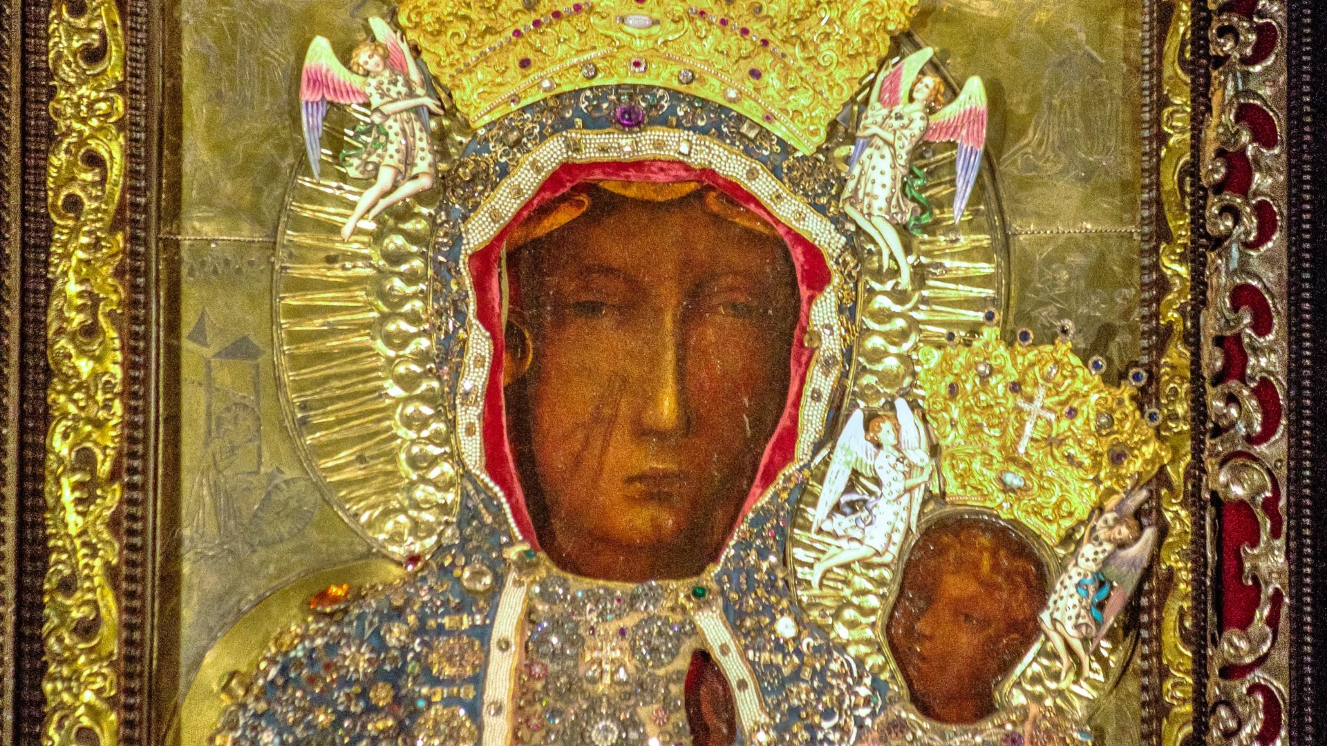 Le Pape Francois Prie Devant La Vierge Noire De Czestochowa Cath Ch