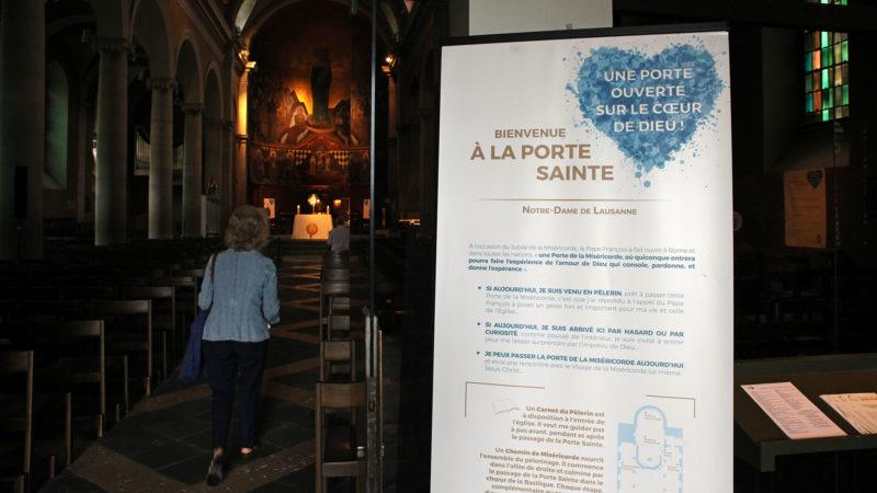 Lausanne le 18 août 2016. Bienvenue sur le chemin de la miséricorde à la basilique de Notre-Dame de l'Assomption. (Photo: B. Hallet)