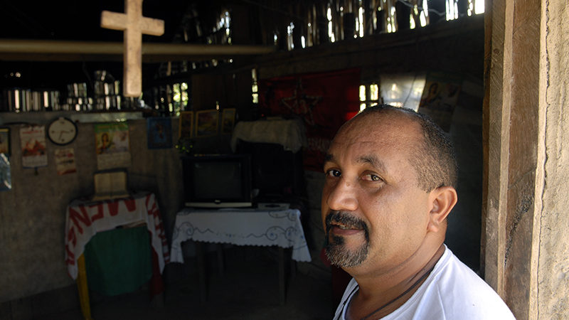 Le Père Amaro, curé de la paroisse d'Anapu, dans l'Etat du Para, au Brésil. (Photo: J.C. Gérez)