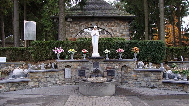 Sanctuaire de Banneux, près de Liège (Photo:  CapitaineCook wikimedia commons)