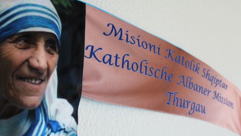 Bannière de la mission catholique albanaise de Thurgovie (photo DR)