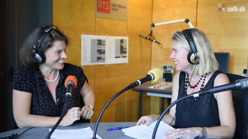 RTSreligion: Evelyne Oberson et Gabrielle Desarzens co-produisent la nouvelle émission Babel sur Espace 2. (Photo: Grégory Roth)