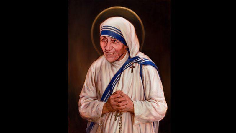 Mère Teresa par Chas Fagan (photo par courtoisie Chevaliers de Colomb)