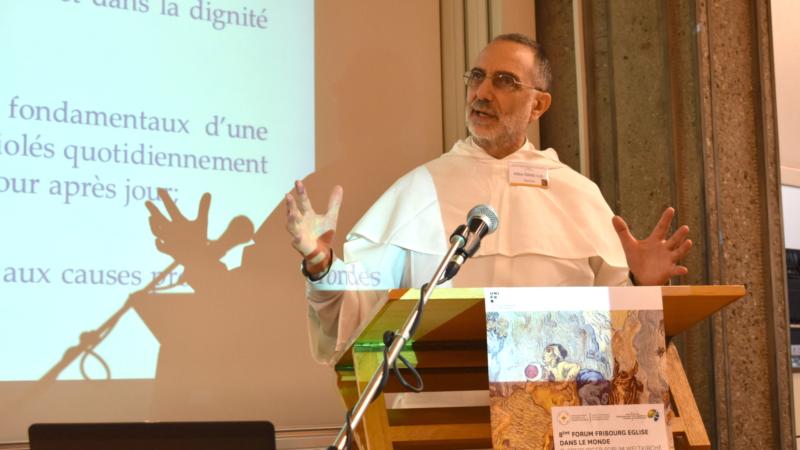 Frère dominicain Michael 'Mike' Deeb, délégué permanent de l'Ordre des Prêcheurs auprès des Nations Unies à Genève (Photo:  Jacques Berset)