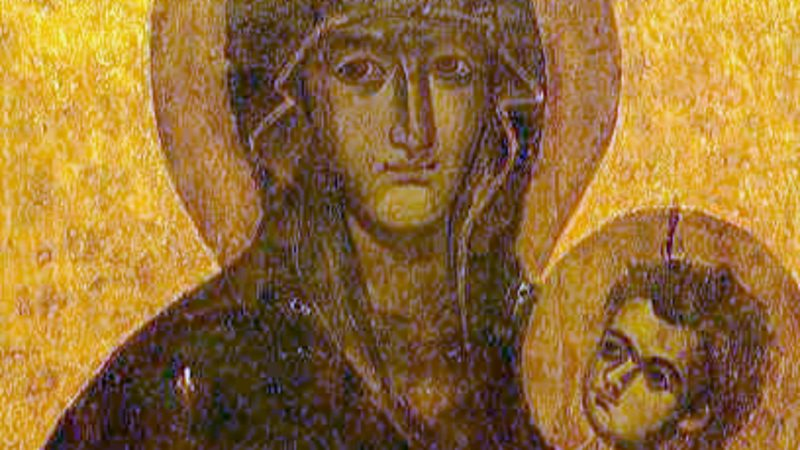 Icône de la Vierge à l'Enfant 'Sauvegarde du Peuple Romain' à la basilique Sainte-Marie-Majeure  (Photo: wikimédia)