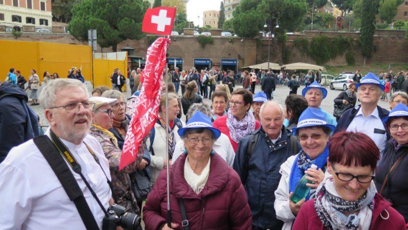 Des Jurassiens ont fait partie des 19 millions de pèlerins qui ont rejoint Rome (Photo:Rémy Charmillot)