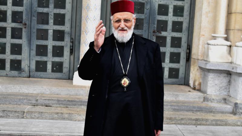 Le patriarche Grégoire III Laham, chef de l'Eglise grecque-melkite catholique, en visite en Suisse à l'invitation de l'Aide à l'Eglise en Détresse (Photo:  Jacques Berset).