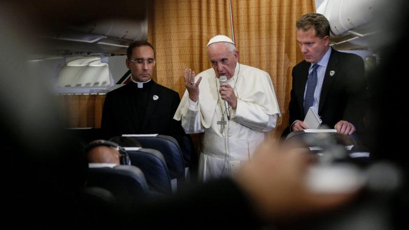 Les propos du pape sur la théorie du genre ont suscité de vives réactions en France, notamment (Photo: Keystone)