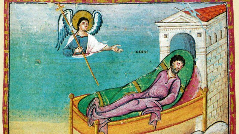 Le rêve de Joseph. (Egbert-Kodex, Reichnau/Trier - Stadtbibliothek Trier)