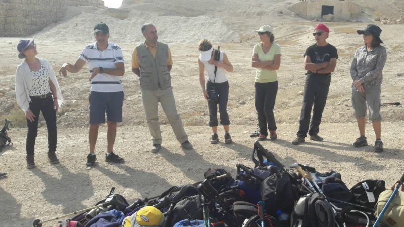 Les membres de l'association Compostelle-Cordoue étaient accompagnés de guides palestiniens (Photo:ass. compostelle-Cordoue)