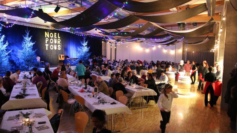 """Plus de 200 personnes participent au """"Noël pour tous"""" de Moutier. (Photo: NPTP/dr)"""