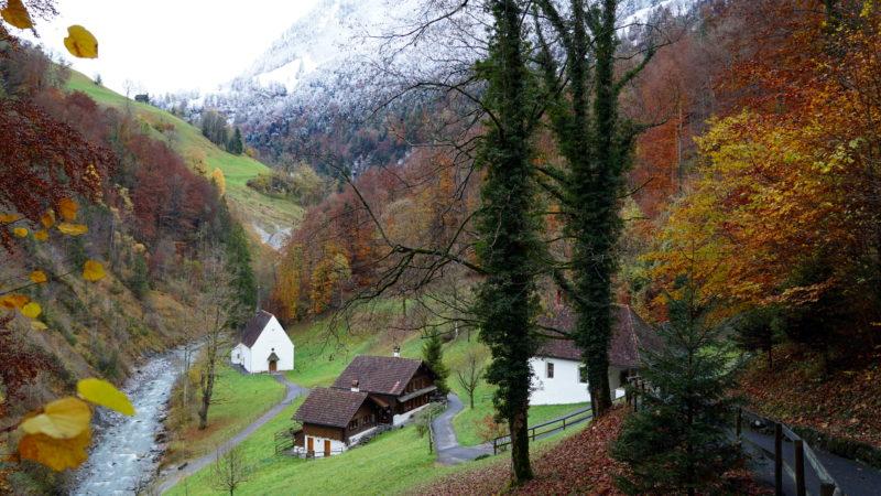 Saint Nicolas de Flüe vécut en ermite au Flüeli-Ranft, dans le canton d'Obwald (Photo:Georges Scherrer)