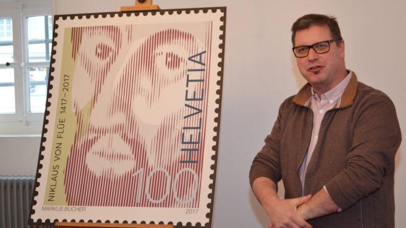 """Le timbre présente """"le regard décidé d'un montagnard obwaldien"""" (Photo: Sylvia Stam)"""