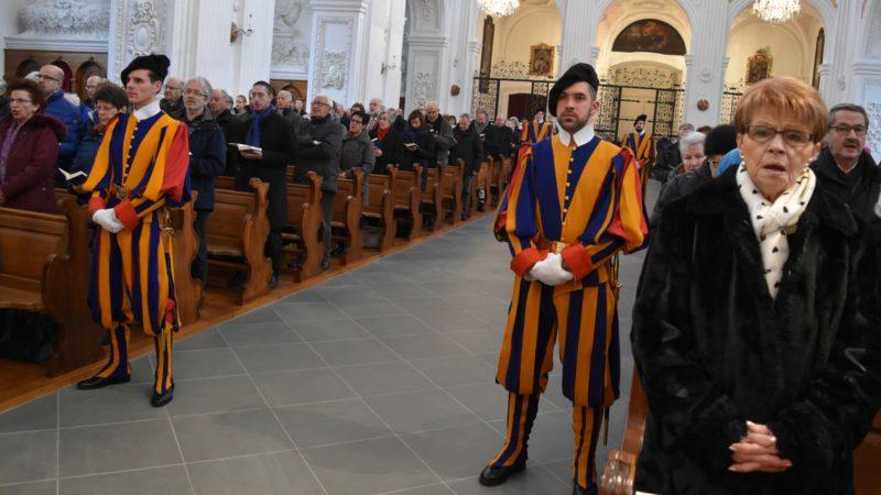Lucerne 70e anniversaire de l'Aide à l'Eglise en Détresse à l'église des Jésuites le 22 janvier 2017 (Photo:  Jacques Berset)