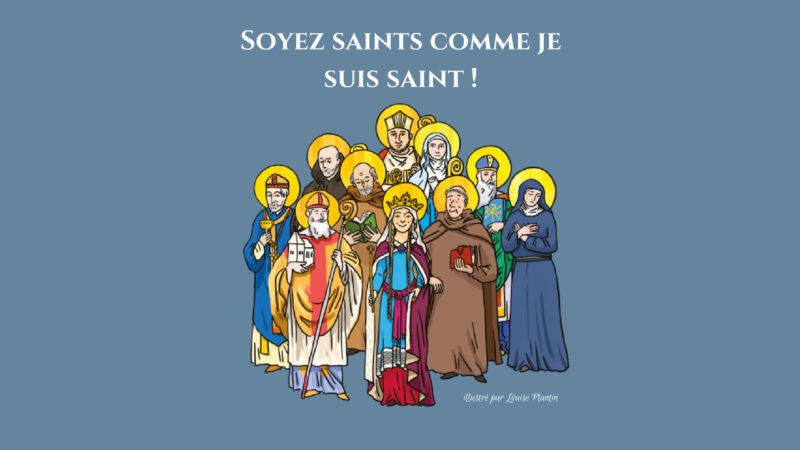 Les dessins de Louise Plantin illustrent les saints vaudois, proposés en exemples par le Carnet de la Basilique (©Louise Plantin)