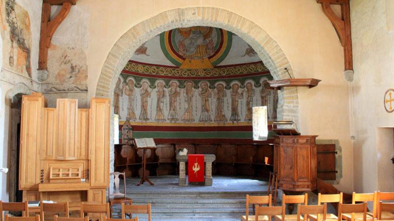 La chapelle romane de Donatyre (11e siècle), consacrée à sainte Thècle (© Wikimedia commons)